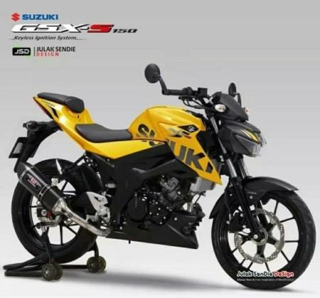 Render GSX-S150 Kuning