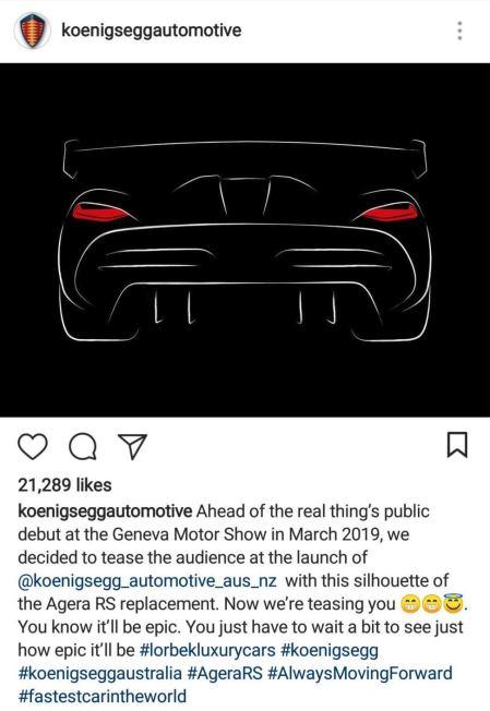 Next Koenigsegg Agera Hypercar