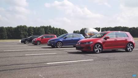 Adu Cepat Volkswagen GTI - Golf GTI Performance, Polo GTI, Up! GTI, dan Golf GTI Clubsport S