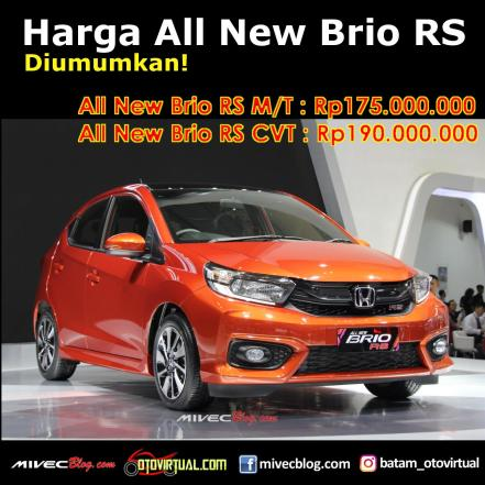Harga All New Honda Brio RS