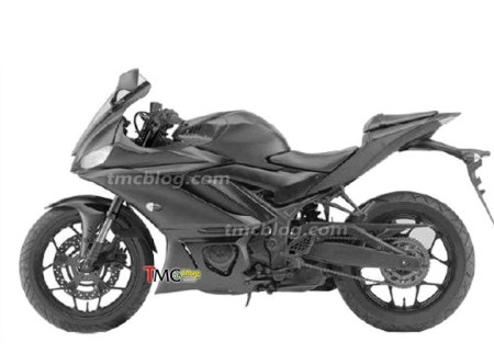 Gambar Paten New Yamaha R25 - Fairing sedikit berubah