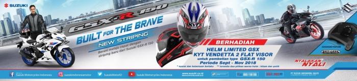 Promo hadiah Helm KYT Vendetta2 Flat Visor dari Suzuki