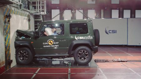 Frontal Crash Test Suzuki Jimny