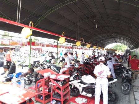 Servis motor gratis dari Honda di Palu