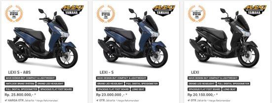 Harga Yamaha Lexi ABS, Lexi S dan Lexi Standar