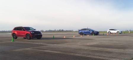 Tesla Model X VS Jeep Trackhawk