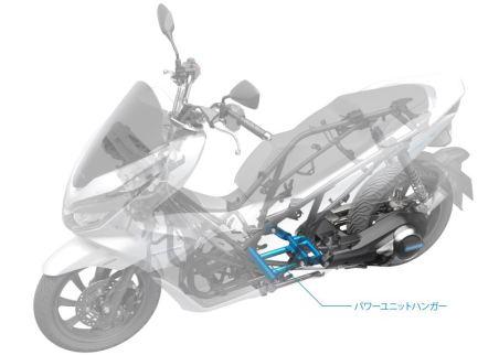 Rangka dan Kompartemen Baterai Honda PCX Electric