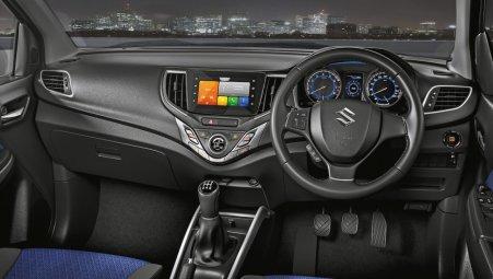 Dashboard dan Entertainment System Baleno Facelift 2019