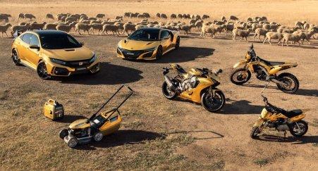 Honda NSX, Type R, Fireblade, CRF450L hingga Pemotong rumput warna emas
