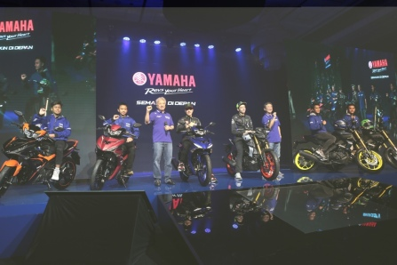 Galang Hendra dan Yamaha Rider Indonesia (YRI) juga turut merilis New MX King dan mT-15
