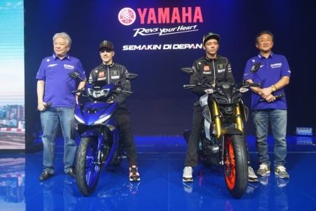 Rossi & Vinales Launching MT15 dan MX King di Jakarta