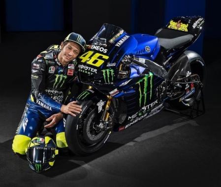 Valentino Rossi bersama M1 Livery 2019