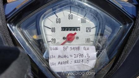 Aktual di odometer 53,7 km