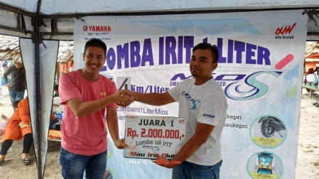 Rahman, Juara 1 Lomba Irit 1 Liter Mio S Batam
