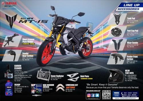 Brosur Aksesoris Resmi Yamaha MT-15 (Belakang)