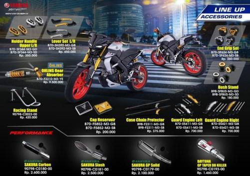 Brosur Aksesoris Resmi Yamaha MT-15 (Depan)