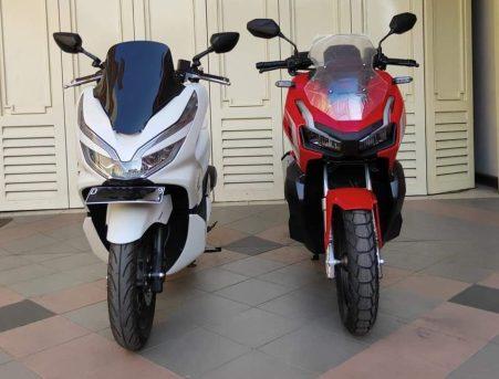 Honda ADV150 bersanding dengan Honda PCX (2)