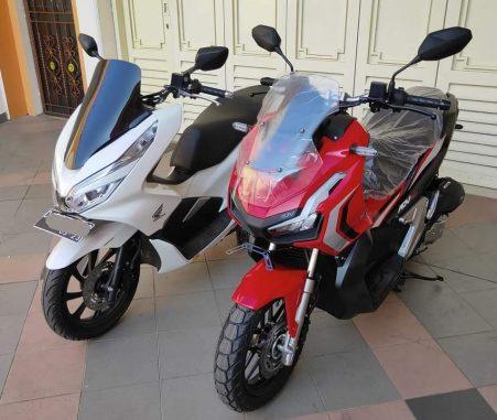 Honda ADV150 bersanding dengan Honda PCX (4)