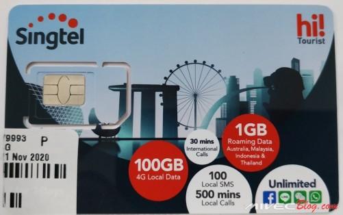 Singtel Hi Tourist SIM Card