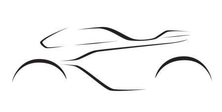 Sketsa Teaser calon motor Aston Martin