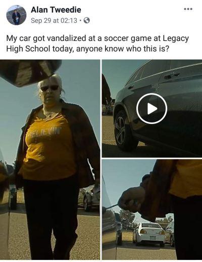 Video Seorang wanita menggores mobil Tesla viral di Facebook
