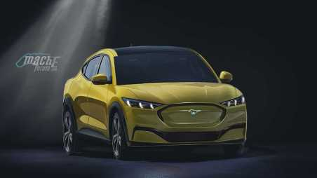 Rendering Crossover Listrik Ford Mach E