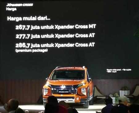 Harga Mitsubishi Xpander Cross