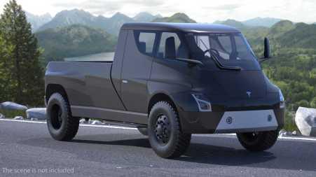 Rendering Truck Tesla