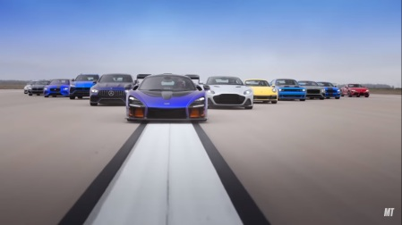 McLaren Senna di World Greatest Drag Race 9
