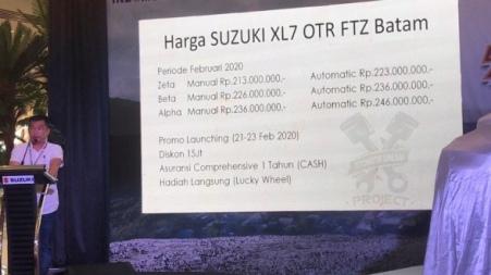 Harga Suzuki XK7 di Batam