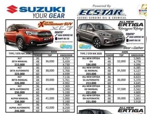 Harga Suzuki XL7 Batam