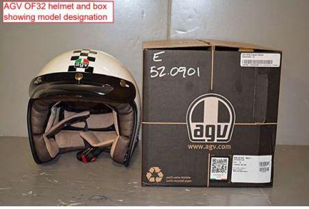 Salah satu Helm yang dites